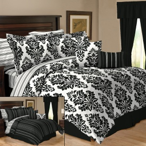 Sander Sales Enterprises Cosmopolitan Reversible 10 Piece Bedding Set