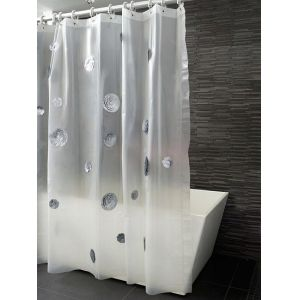 Kontextür Happiness Silver Petals Shower Curtain