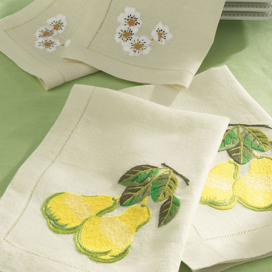 New sferra embroidered dinner napkins choice of fruits