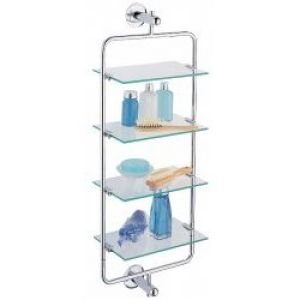 Triple-tier Tempered Glass Corner Bathroom Shelf | Overstock.com