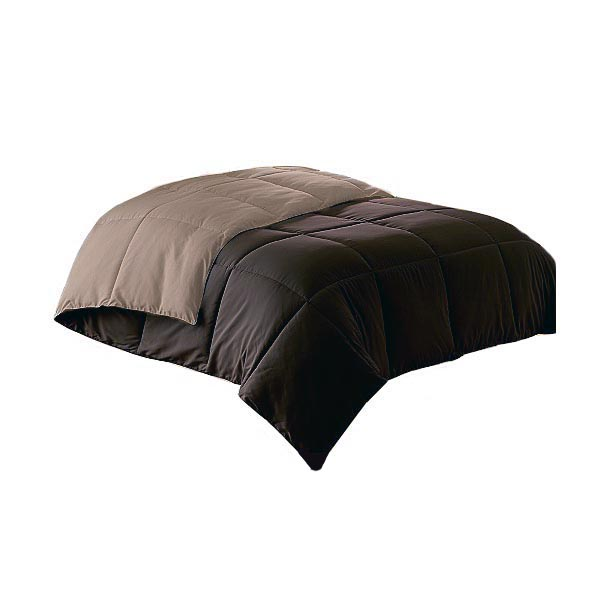 Micro Fiber Down Alternative Comforter Chocolate Taupe