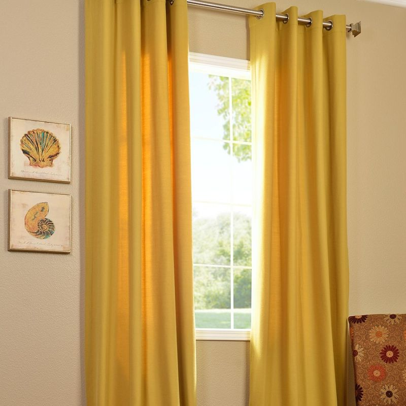 Yellow panel curtains curtain design - Benefits of light colored upholstery and curtains ...